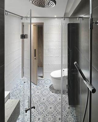 简约风格公寓装修卫生间瓷砖图