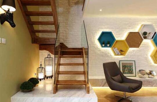 客厅带楼梯效果图 创新理念客厅带楼梯设计