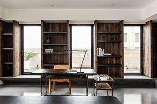 112平简约风格公寓书房效果图