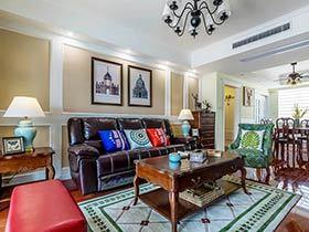 135平美式风格三房二厅装修 远离浮躁与喧嚣