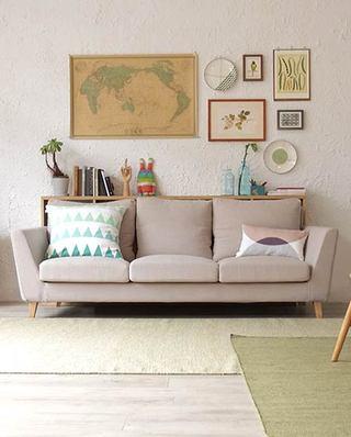 客厅休闲三人沙发设计图
