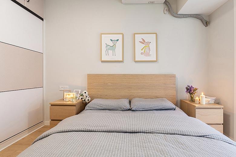 卧室床头背景设计图片