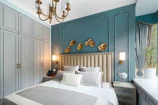 110平美式三居装修主卧室装修