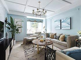 110平美式风格三居室装修 家有宁静之美