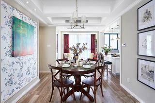 160平美式风格四居餐厅壁纸图片