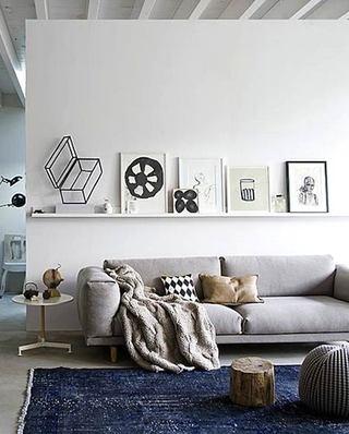 北欧风格客厅双人沙发效果图