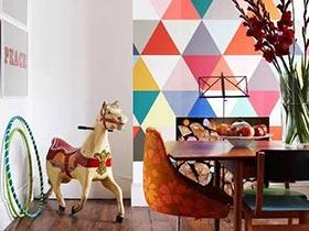 数学发明之家  11款几何图案背景墙图片
