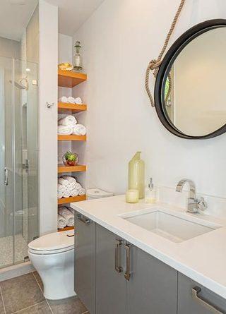 卫生间设计收纳装修实景图
