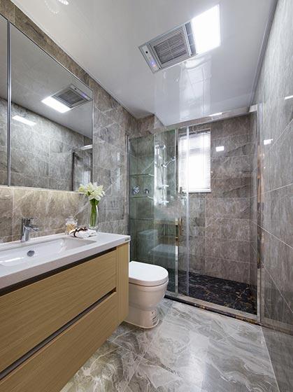 80㎡现代风格二居室卫生间图片大全