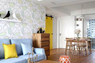 140平北欧三居室客厅装修效果图