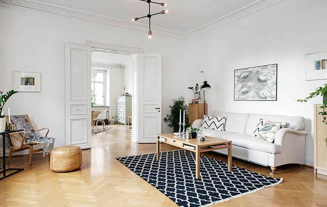 北欧风格客厅木地板图片