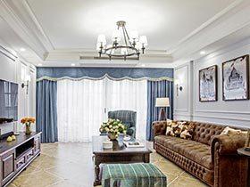 160㎡美式三居室设计图片  随时欢乐