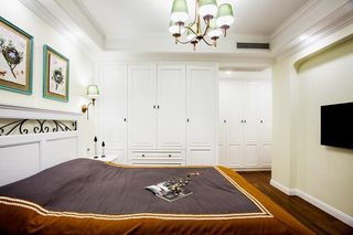 160㎡美式三居室卧室图片大全