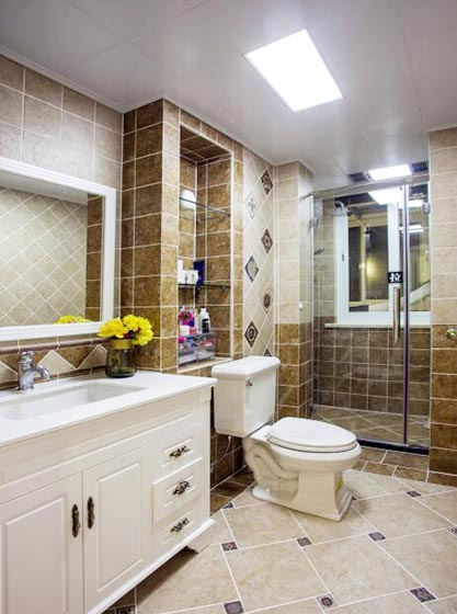 160㎡美式三居室卫生间构造图