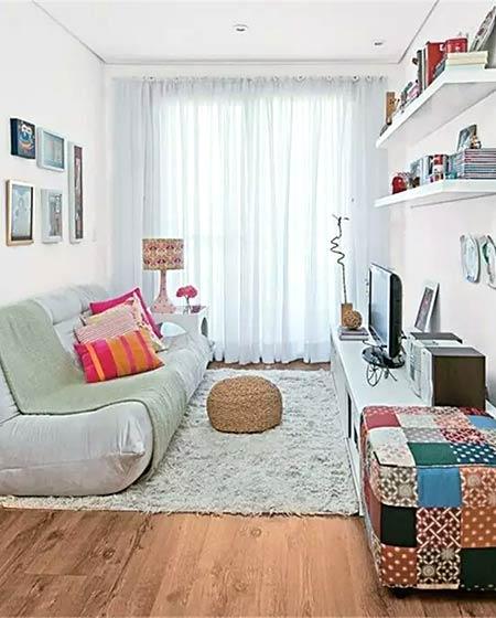 小户型装修客厅懒人沙发