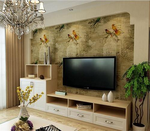 壁纸电视背景墙效果图 个性简约的4款客厅壁纸