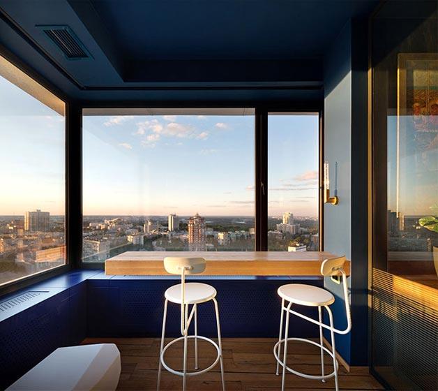 80平米单身公寓阳台欣赏图