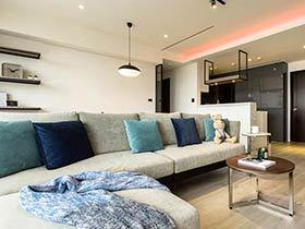 85平现代简约风格公寓装修图 温馨美家
