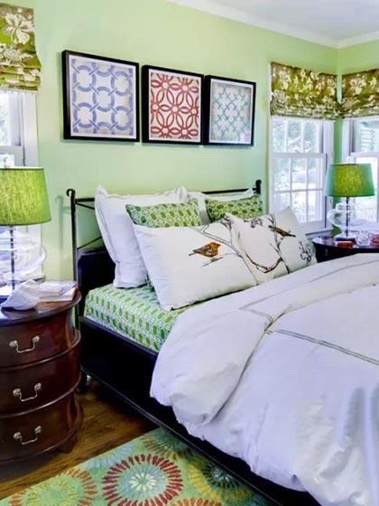 卧室布艺床设计平面图