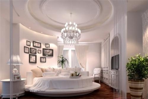 欧式卧室吊顶效果图 卧室吊顶也能如此的美