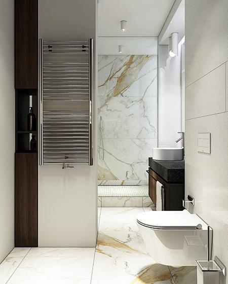 简约风格样板房卫生间瓷砖装修