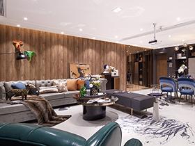 混搭风格样板房装修设计 逍遥客的雅痞空间