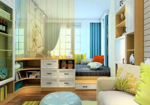 卧室榻榻米装修效果图 榻榻米卧室装修小户型连床都省