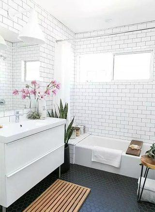 卫生间小白砖设计平面图