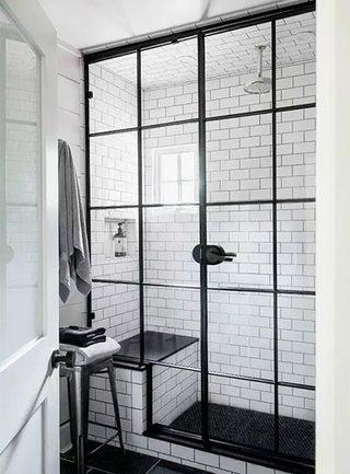 卫生间小白砖平面图