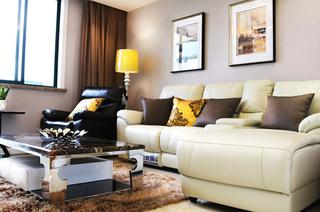 138平简约三居室真皮沙发图片