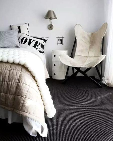 北欧风格卧室地毯图片大全
