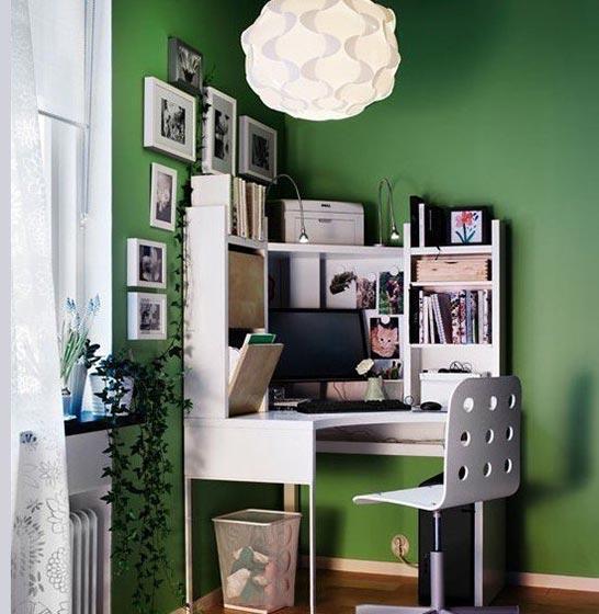 转角收纳书桌设计图片