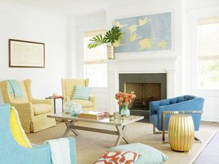 轻美式客厅设计平面图