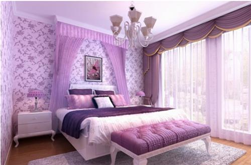 结婚卧室装修效果图 婚房设计注意事项