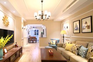 100平美式风格两室两厅装修 自然栖息地2/11