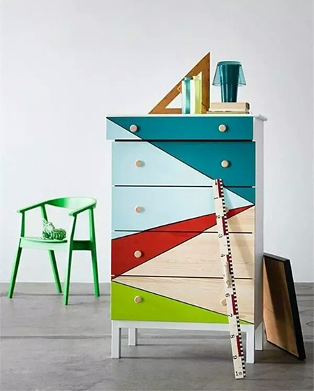 彩色收纳柜图片