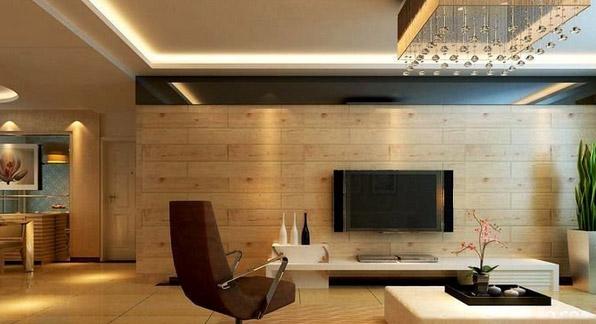 """木地板做电视背景墙 客厅电视背景墙的吸""""睛""""大法"""