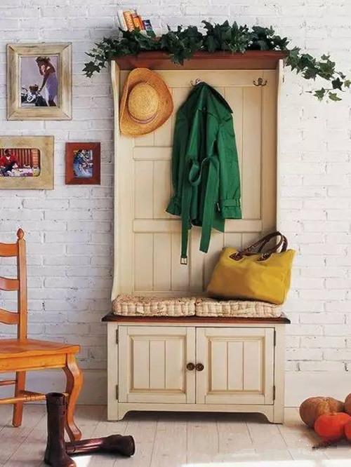 门厅衣帽柜效果图 门厅柜鞋柜衣帽柜一体设计案例