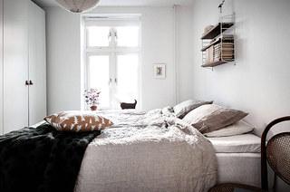 北欧风格一居室装修卧室设计图