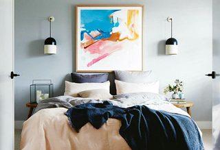 北欧卧室背景墙平面图