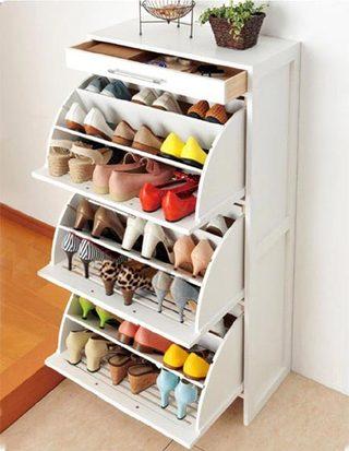 简易鞋柜装修实景图