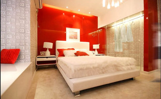 婚房卧室背景墙装修