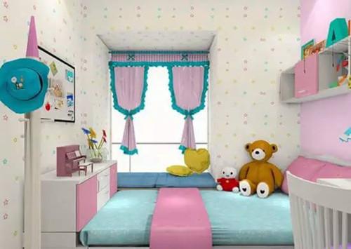 这是一款儿童主题房,采用了目前较流行的榻榻米设计,整体给人的第一