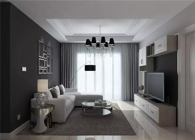 现代简约小户型装修效果图 三居室灰白主题小户型设计图片