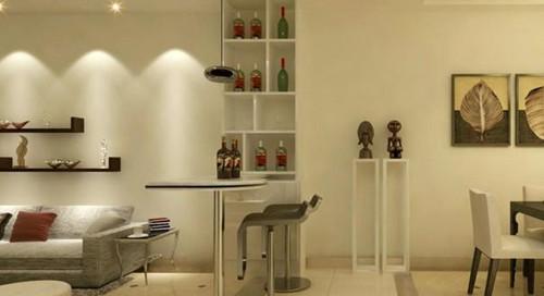 2017客厅装饰酒柜效果图 别有风情的客厅装饰酒柜图片
