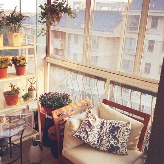 阳台改造休闲阳台图片