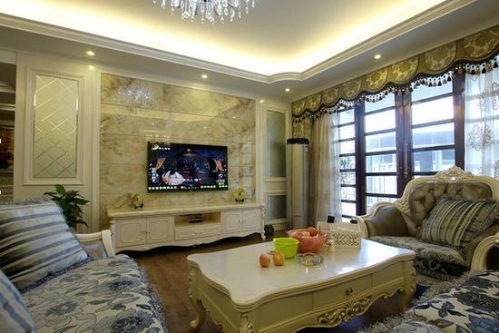 欧式客厅隔断装修效果图 冬日里的欧式简约风 装成计