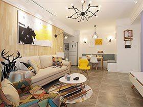 89㎡北欧风格两居室设计图  随性最美