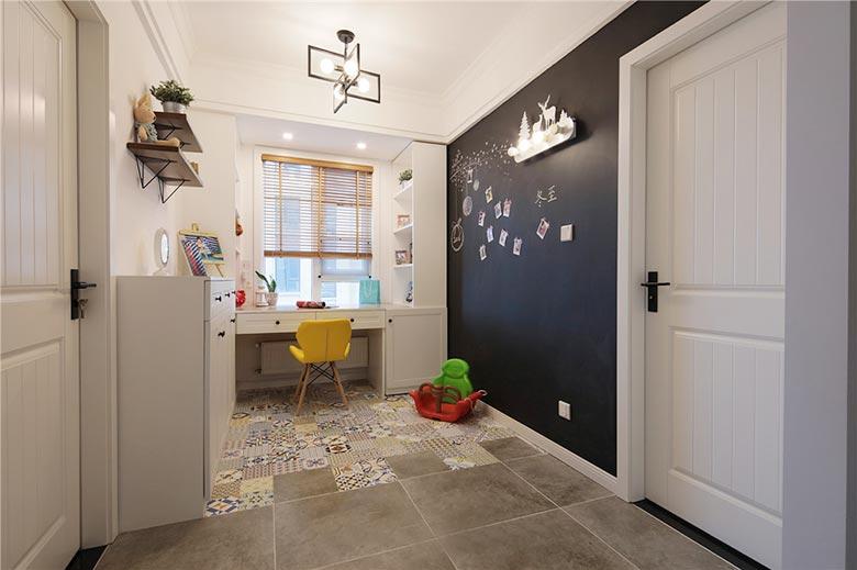 89㎡北欧风格两居室书房装修图