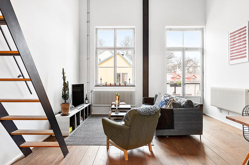 61平小户型loft公寓客厅沙发设计